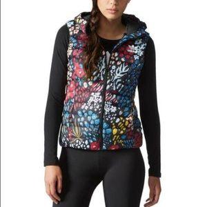 Adidas Floral Black Puffer Vest